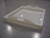 Drip tray in natural polypropylene
