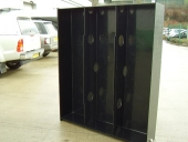 Vehicle water storage tank showing internal baffles 1800mm x 1500mm x 360mm